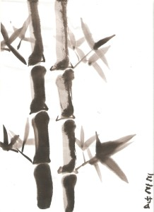 Akua's Sumi-e painting (ink on rice paper)